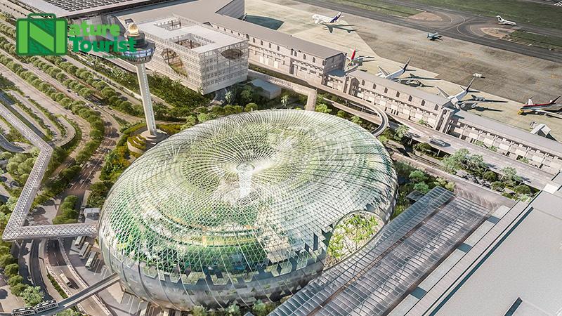 Đây là hình ảnh 3D của dự án cải tạo và mở rộng sân bay Changi thành một khi phức hợp giải trí và có cả một khu vườn bách thảo bên trong