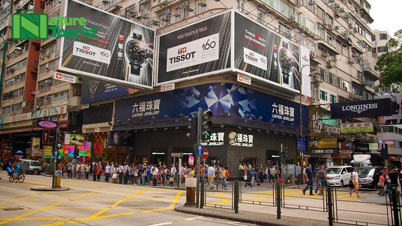 Khu Tsim Sha Tsui ở Đảo Cửu Long