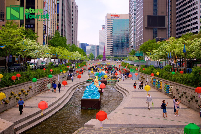 suoi-cheonggyecheon-la-mot-dong-suoi-nhan-tao-dai-58km-chay-qua-trung-tam-thanh-pho-seoul